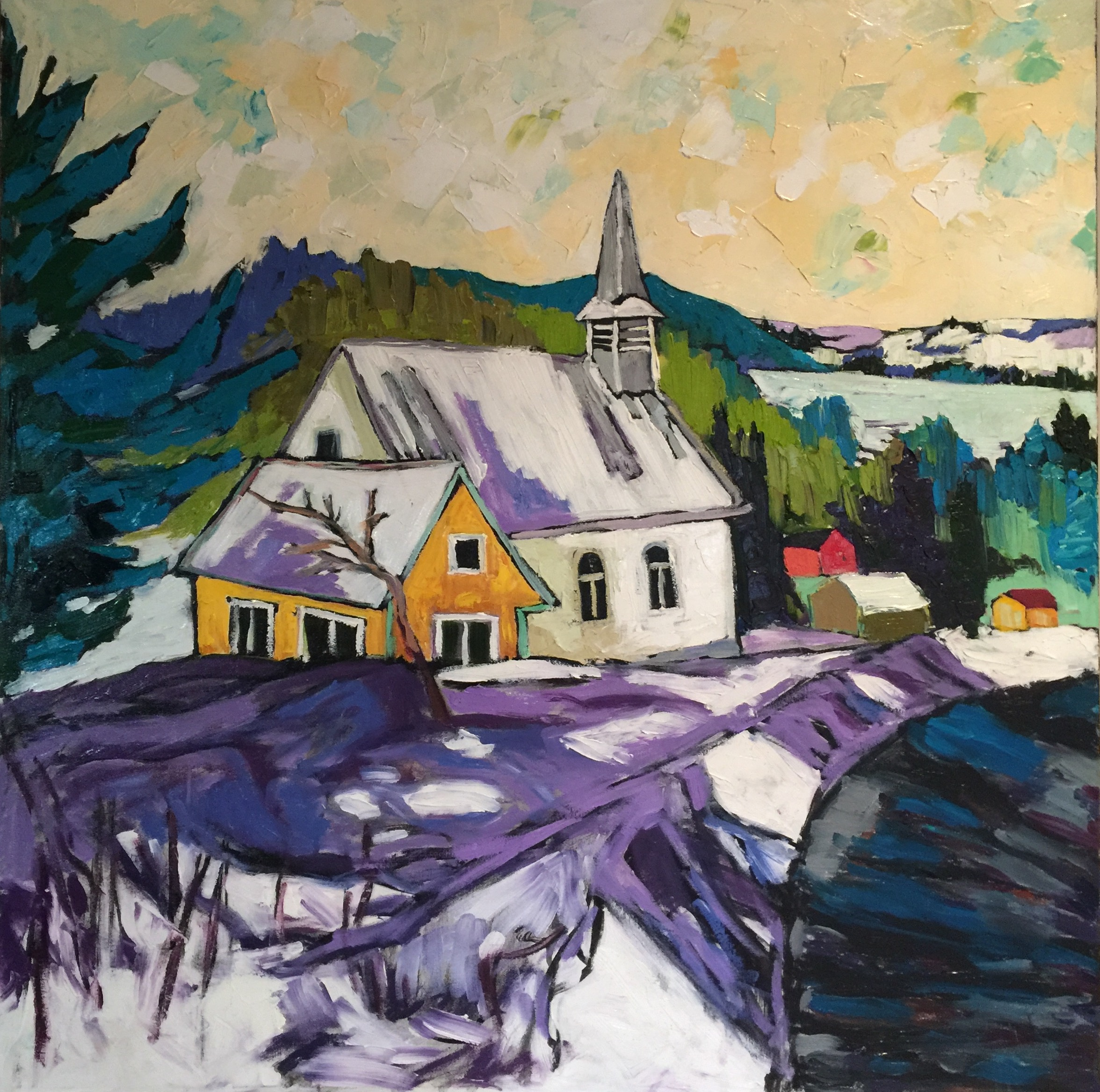 St. Clement, Gatineau Hills, 30h 30w Oil on Canvas