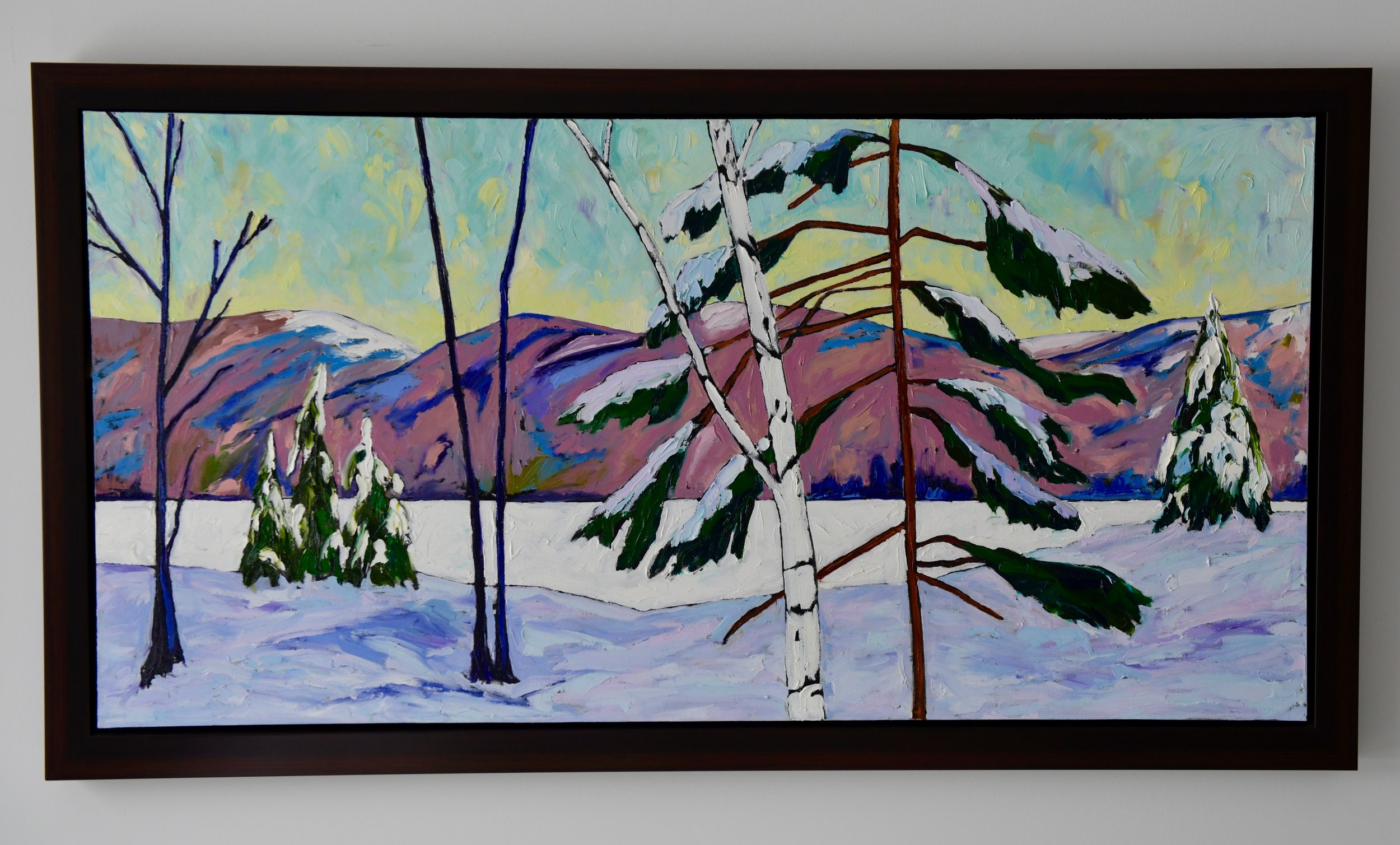 Peaceful Breath Vista 28h 48w Oil on Canvas $1550 Framed