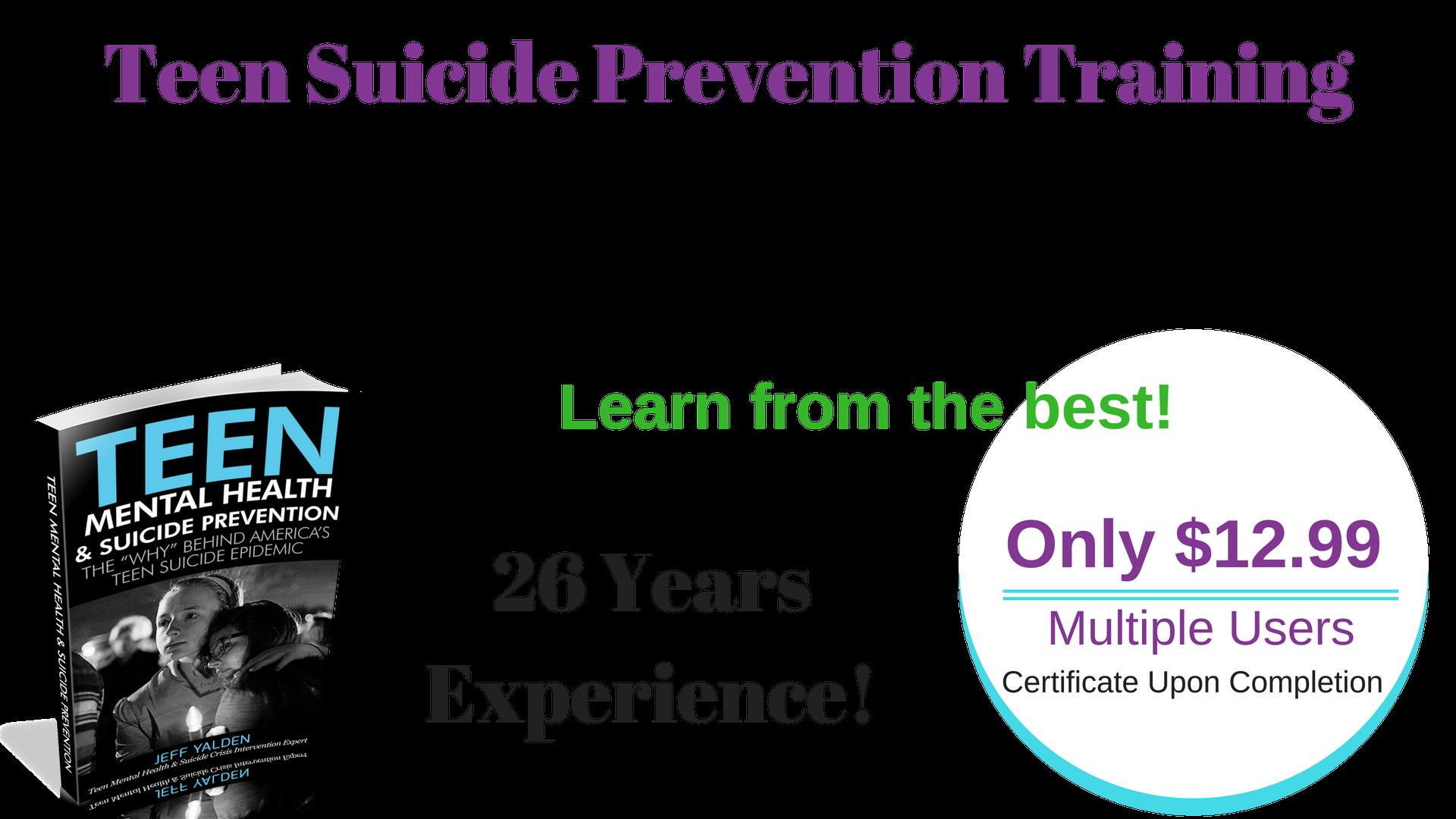 Teacher Suicide Prevention Training Certificate