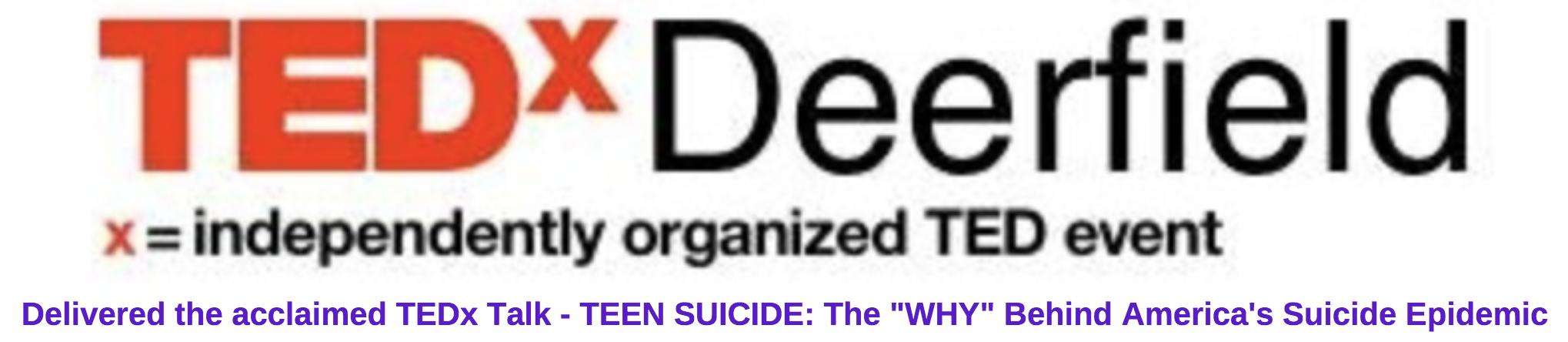 TEDx Talk Speaker Jeff Yalden Teen Suicide