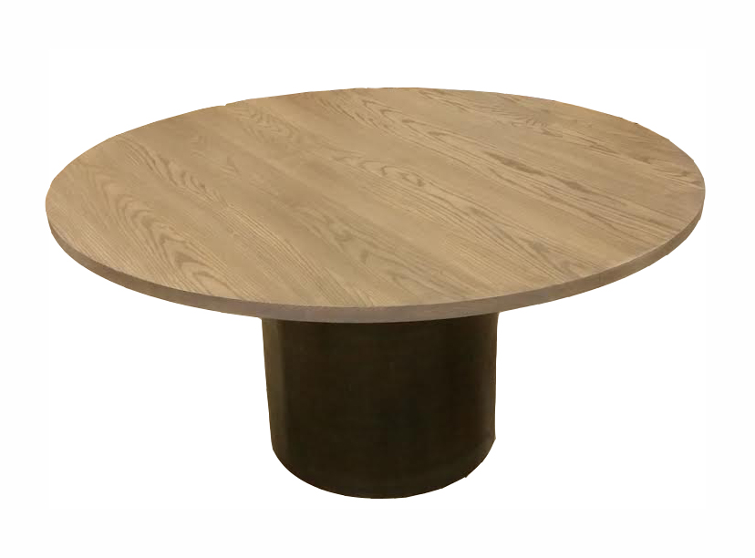 Extendable Grey Washed Ash Dining Table with Round Steel Base - small.jpg