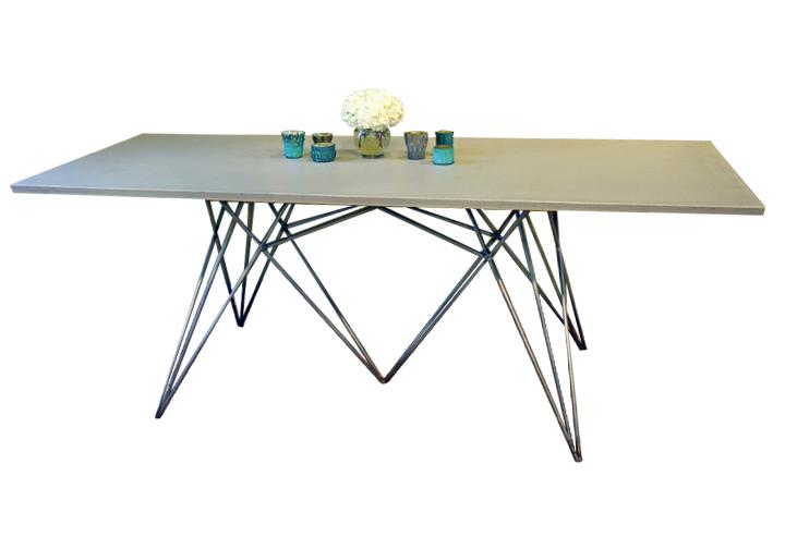 Concrete Top & Geometric Base Dining Table.jpg