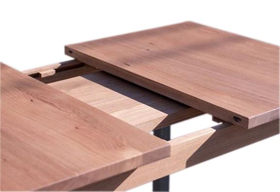 Extendable Elm Dining Table - open.JPG