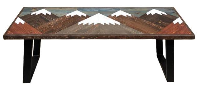 Rustic Mountain Scene U-Leg Bench.jpg