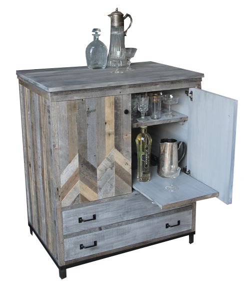 Rustic Grey Chevron Bar Cabinet.jpg