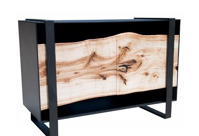 Live Edge Cottonwood & Steel Cabinet.JPG