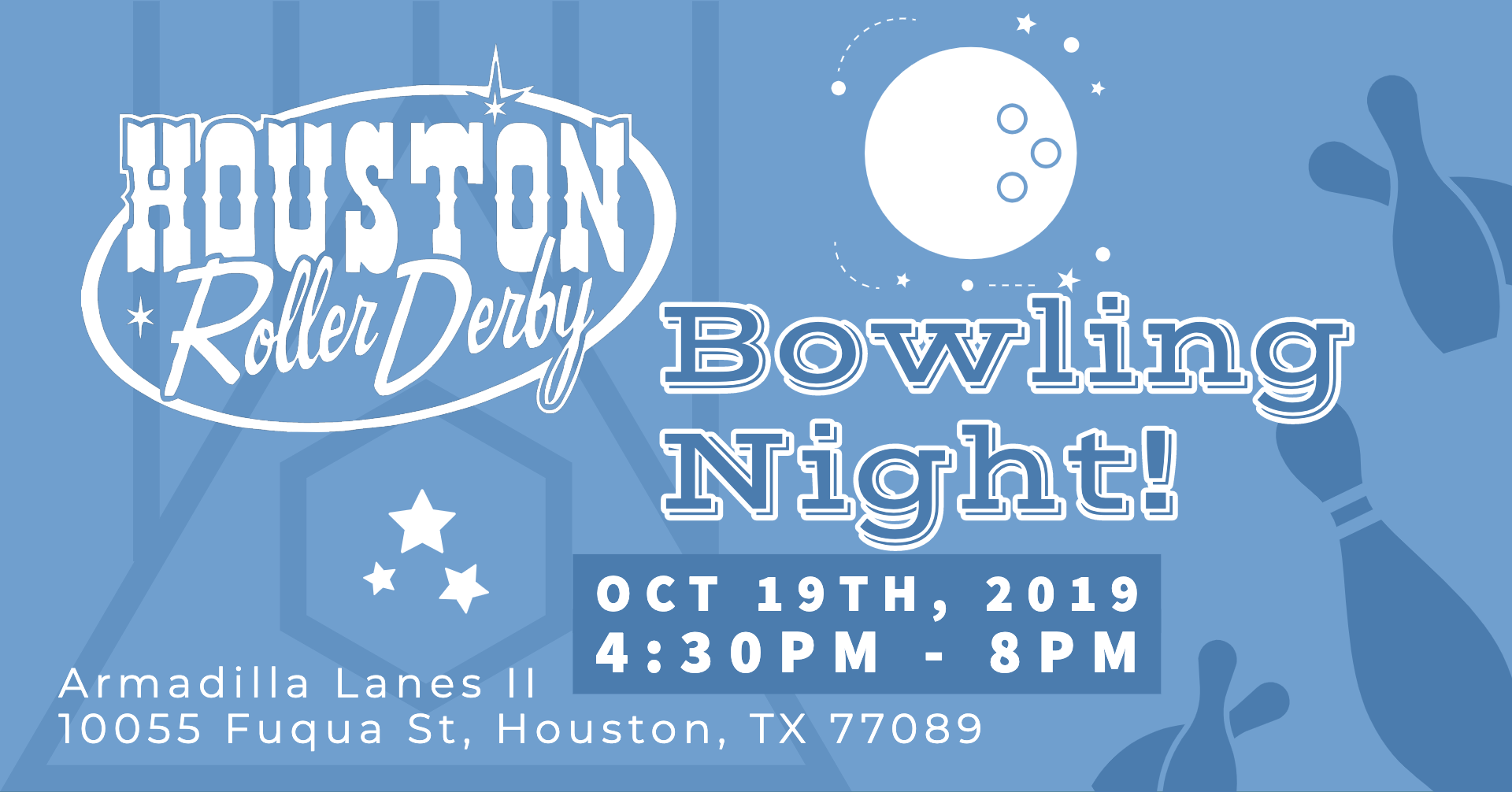 Houston Roller Derby  - Join us at Armadilla Lanes II for a Bowling Tournament!