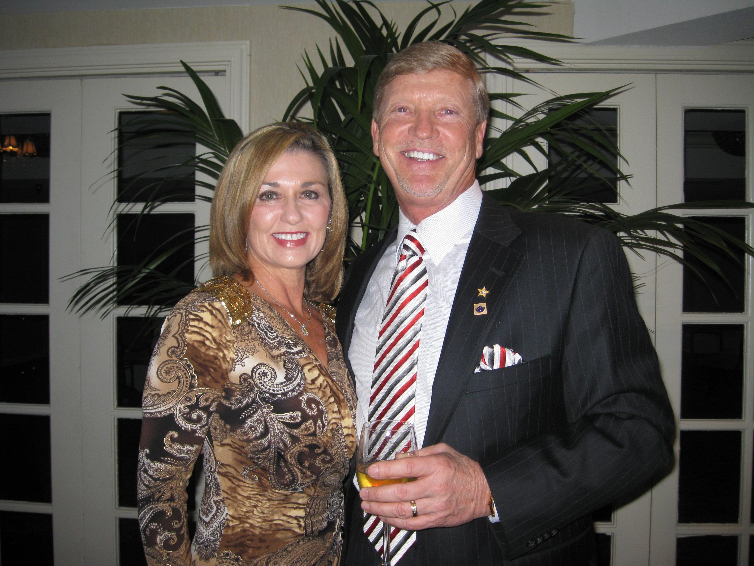J.E. Funderburk with his wife, Sherri