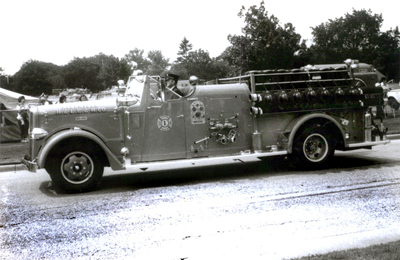 One of several Ward-LaFrance pumpers. This one is lettered as 806