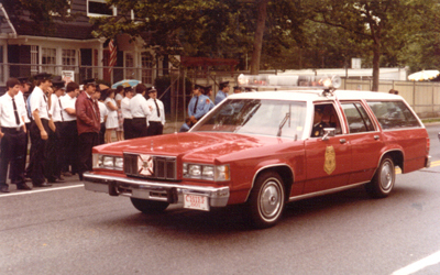 This classic 80's station wagon style chief's car was used by 801