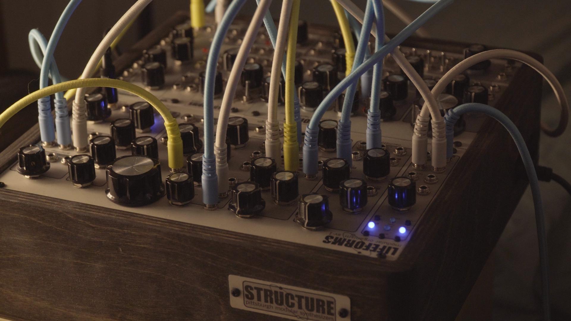 Eurorack modular based on Pittsburgh Modular Lifeforms System 101
