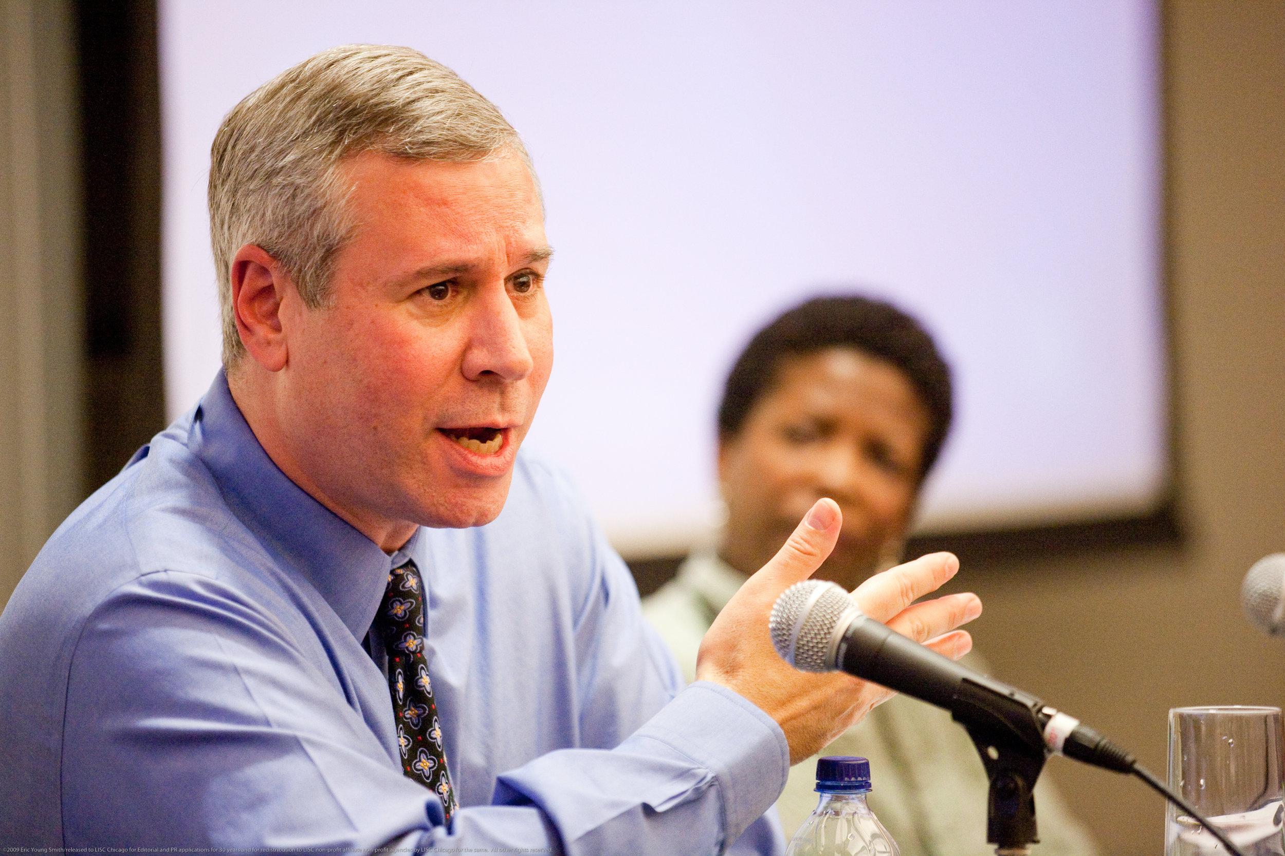 Joel Bookman provides consulting in community development