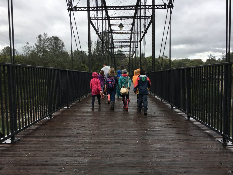 On the Truss Bridge in Folsom California, on the way to the Folsom Zoo Sanctuary