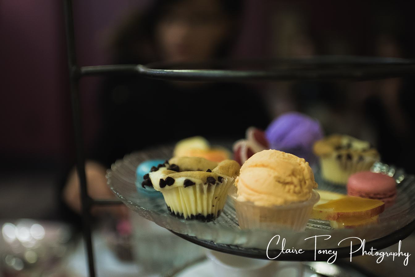 Dessert plate at Dash of Panache Teahouse Roseville CA Documentary Photography Claire Toney