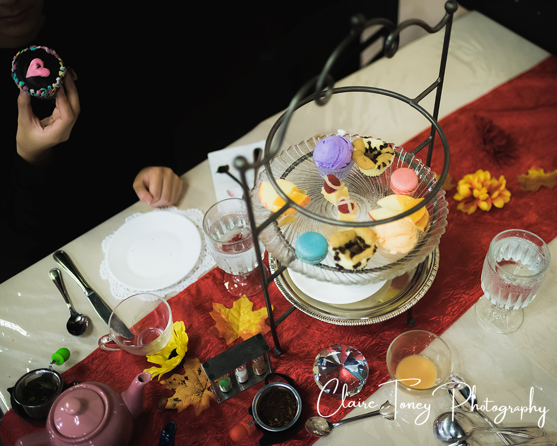Dessert layout at Dash of Panache Teahouse Roseville CA Documentary Photography Claire Toney