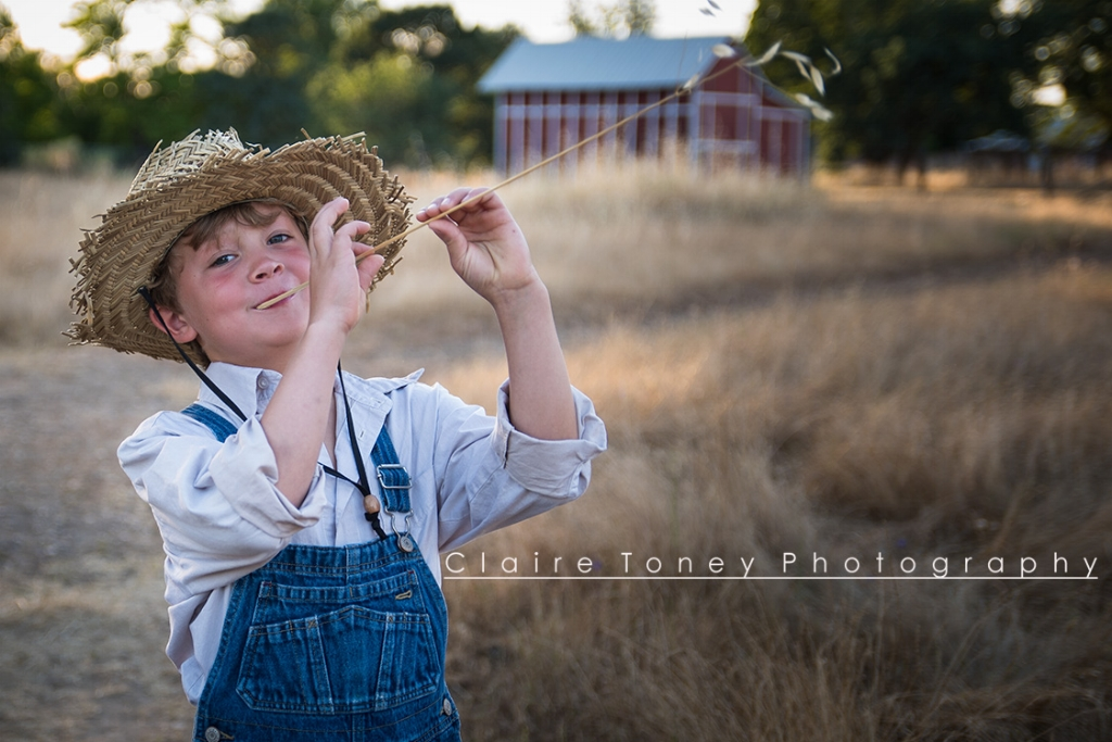 A fun child portrait in Orangevale CA. Claire Toney Photography, Sacramento Photographer