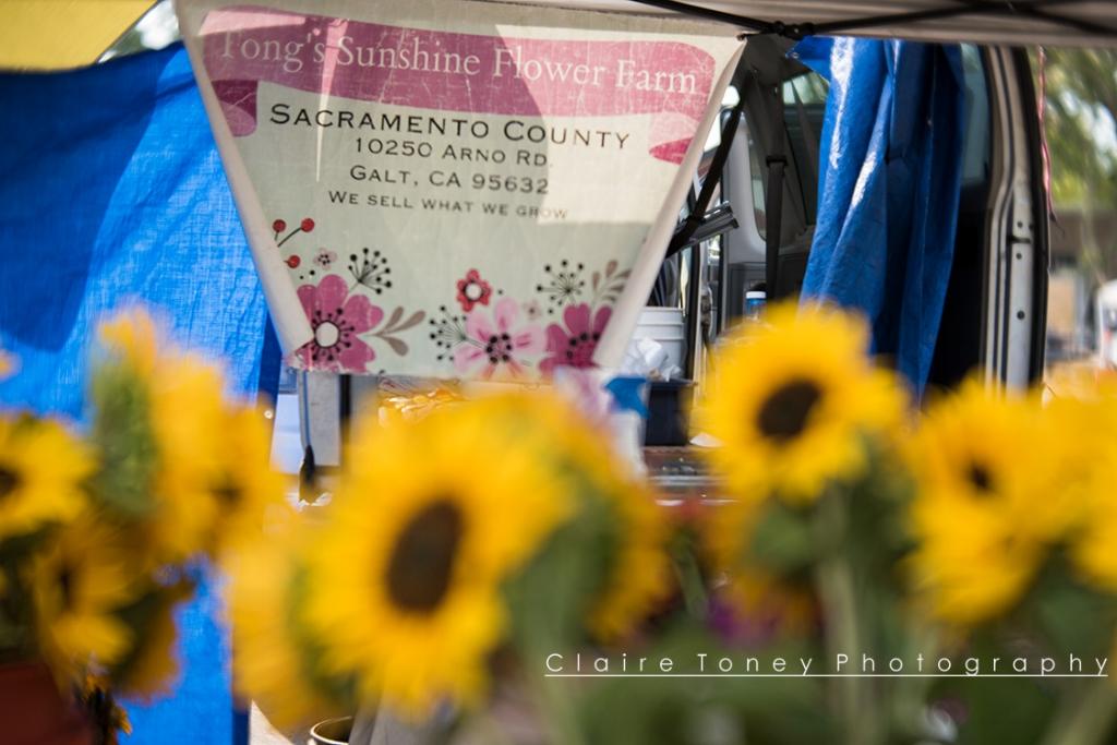 Fong's Sunshine Flower Farm at High Hand Farmer's Market taken with Lensbaby Velvet 56 Lens