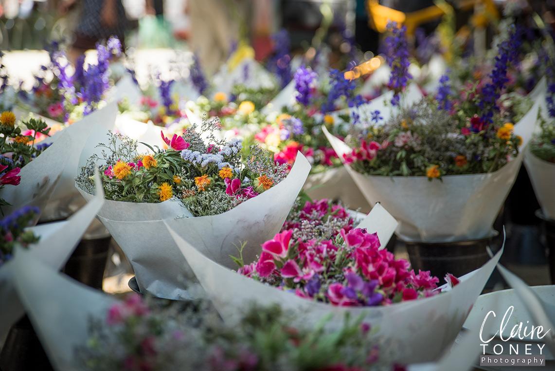 Summer Flowers at the Farmers Market Midtown Sacramento