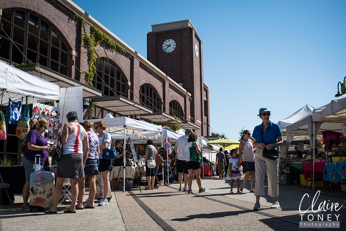 The Clock tower at the Folsom Farmers Market