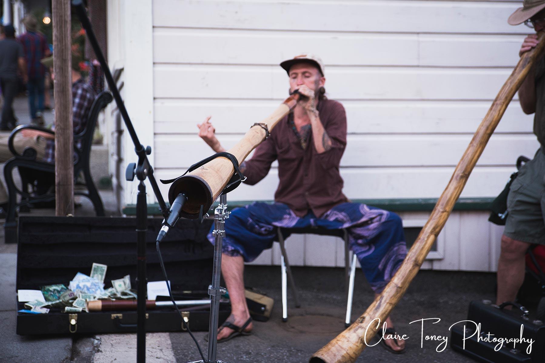 Didjaroo player at Nevada City Summer Nights 2017