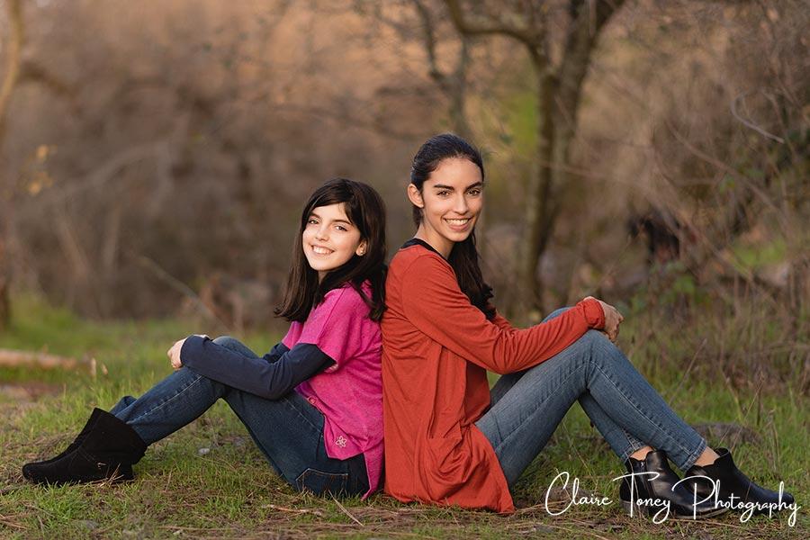 Sisters portrait Folsom California