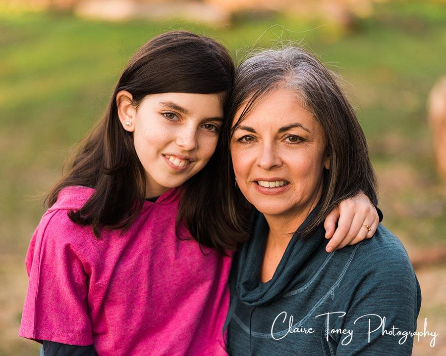 Mom and Tween portrait Folsom California
