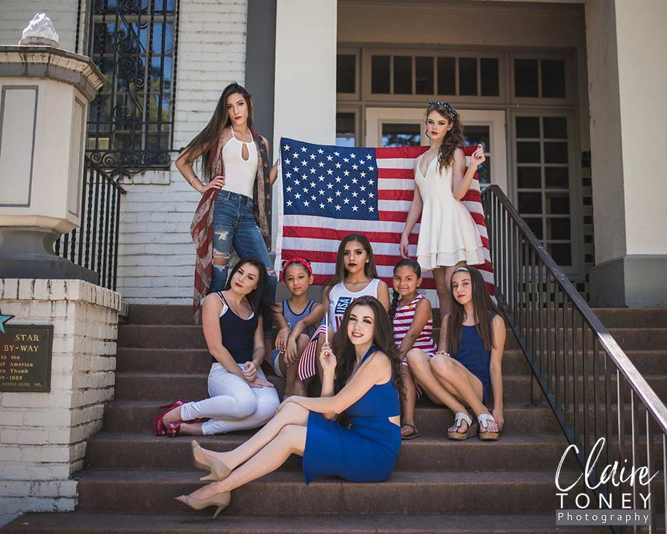 Model Photography with Tabitha Kit and her models for Petite Magnifique July 4th issue