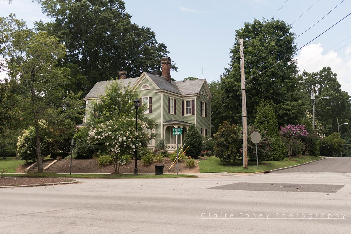 A beautiful corner Victorian home on Main Street, Wake Forest NC