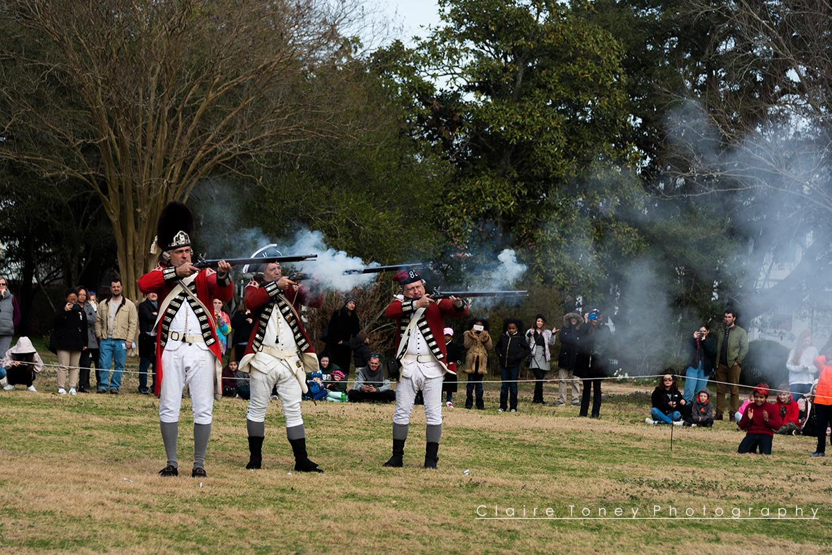 Firing Demonstration, Tryon Palace, New Bern NC