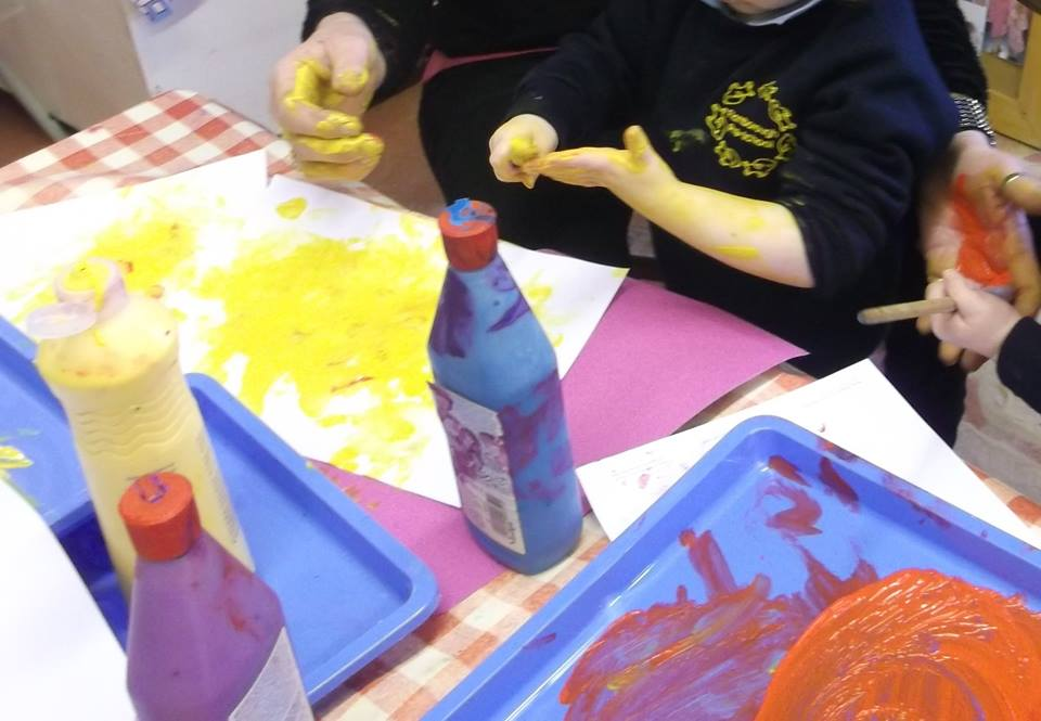Children enjoy a variety of arts and crafts activities. They are all encouraged to become involved and explore a variety of resources.