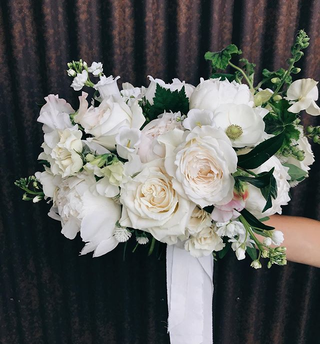 This might be a 2019 favorite. An all white bouquet chalked full of beautiful blooms - some local and some imported. It smelled delightful and had the most ruffly texture.