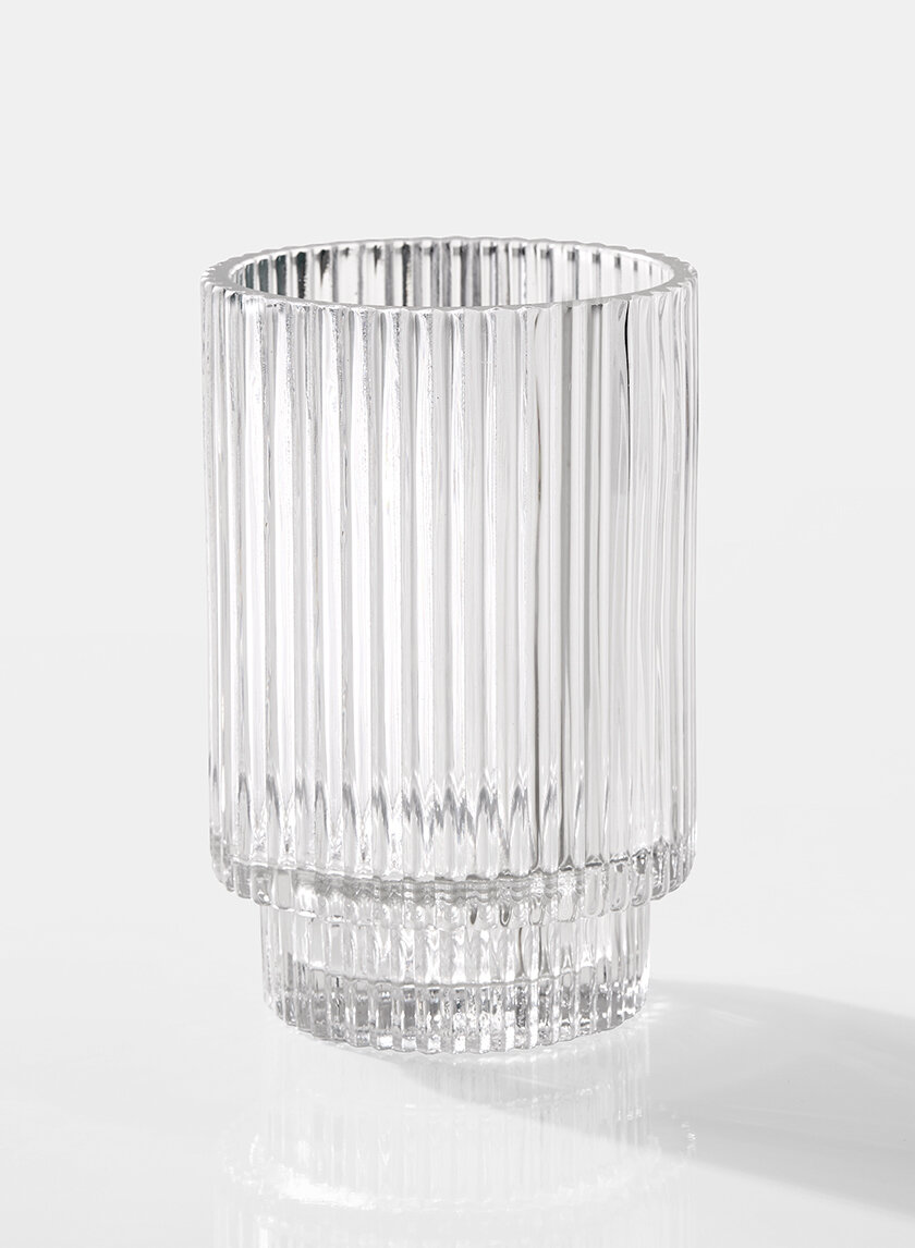 clear pleated lg.
