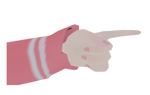 Finger Point : Happy Face (closed eyes)