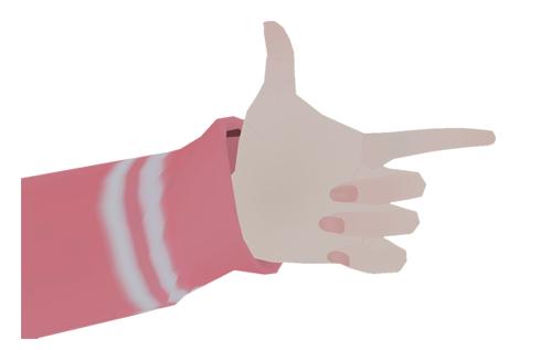 Hand Gun : Laughing  (disables both transformed arm & leg?)