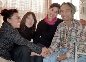 Left to right: Yuri, Annette, Yoshi and Motoji Makino, in Chiba, Japan, December 29, 2011
