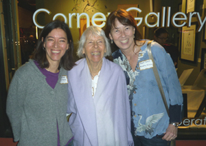 """L-R: Yoshi, Erika and Annette Makino at the opening of a mother-daughter art show, """"Clay, Straw, Paper,"""" at the Corner Gallery in Ukiah, California on February 1, 2013."""