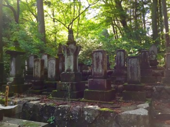 A Makino family cemetery in Kurabuchi, Gunma prefecture, goes back ten generations.