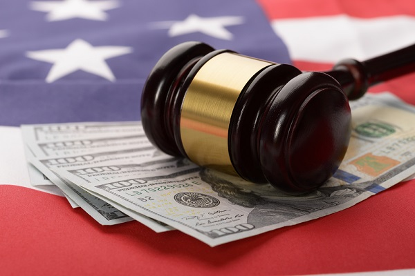 Judges Hammer with dollar
