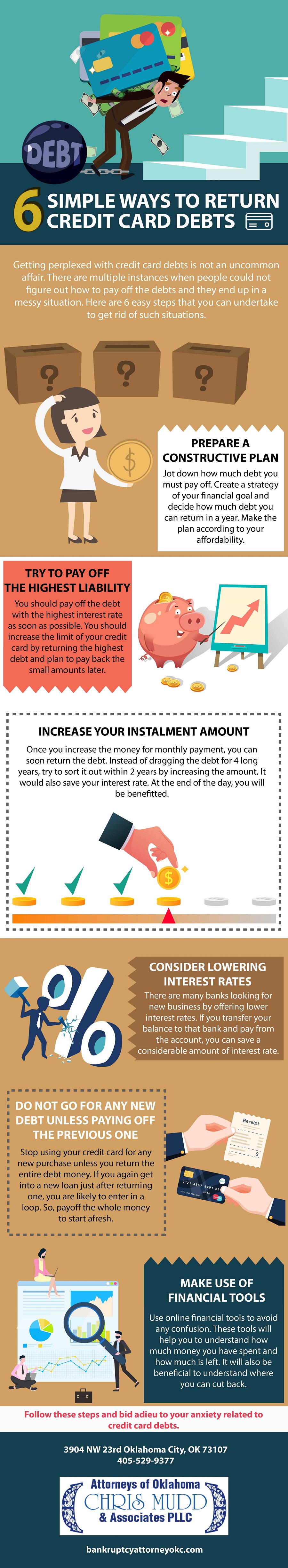 6 Simple Ways To Return Credit Card Debts