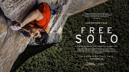 Need plans for the week?  Check out the new film FREE SOLO from award-winning documentary filmmaker E. Chai Vasarhelyi and world-renowned photographer and mountaineer @jimmy_chin. A stunning, intimate and unflinching portrait of a free soloist climber Alex Honnold, as he prepares to achieve his lifelong dream: climbing the face of the worlds most famous rock... the 3,200ft El Capitan in Yosemite National Park... without rope. Find a theatre near you: www.FreeSoloFilm.com #freesolo #elcap #yosimitenationalpark #northface #tnf