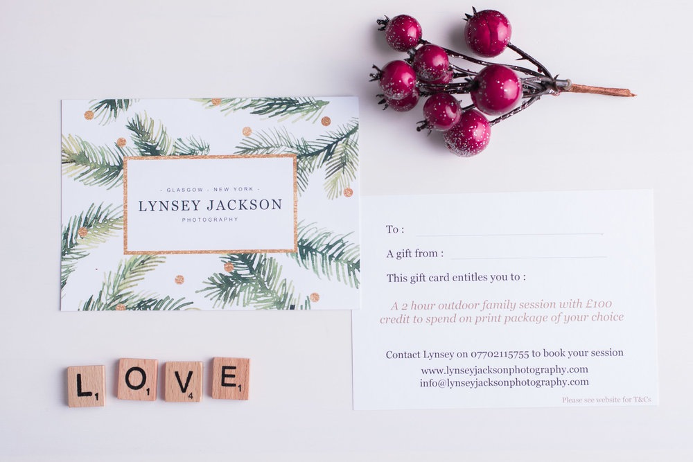 Lynsey Jackson Photography Christmas Gift Voucher Couples Session