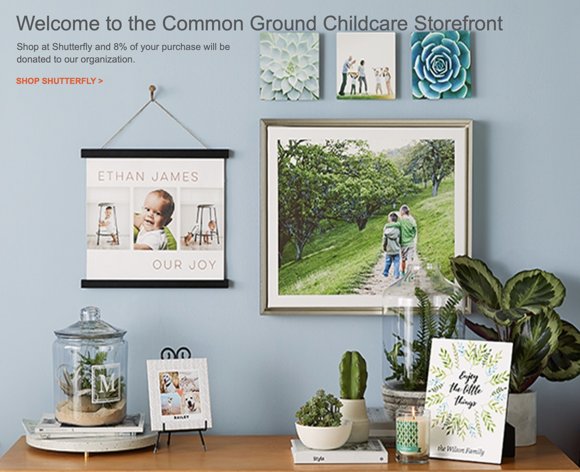 Shop our Shutterfly Store! - Get your photos off your phone and onto your walls! Shop this link: http://commonground.shutterflystorefront.comand support Common Ground in the process!!