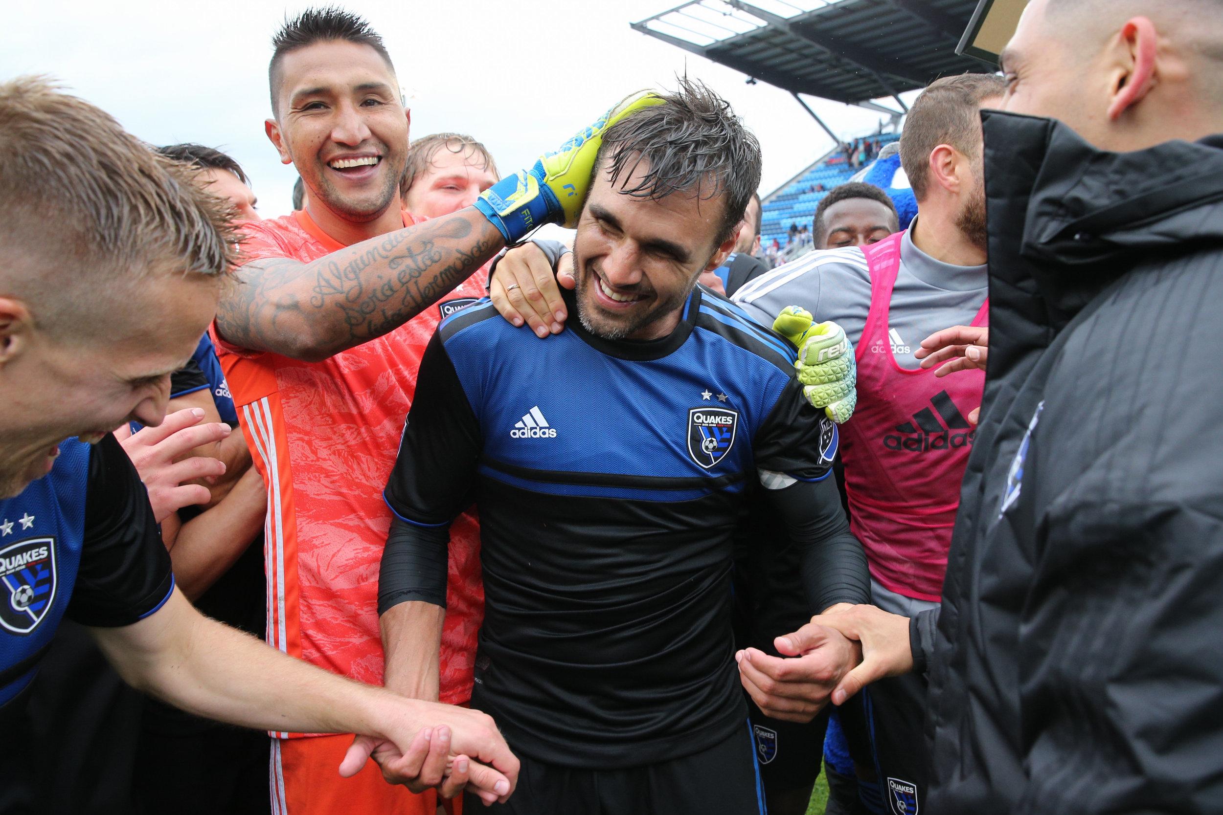Chris Wondolowski celebrates after the match_CV_051819_7689.JPG