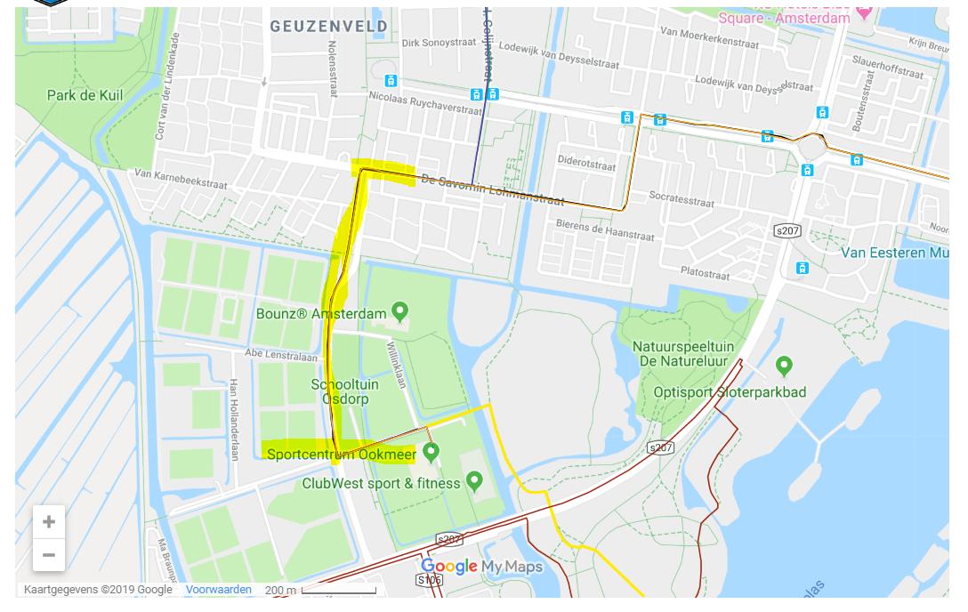 Door de jaarlijks terug kerende triathlon in Amsterdam west, is ons complex lastig te bereiken. Voor meer informatie zie:  Bereikbaarheid Triathlon Amsterdam Nieuw West 26 mei 2019 -  https://www.google.com/maps/d/viewer?mid=1ADs92JfX9vuC03OpXtPD95XTiZVQR25L&usp=sharing