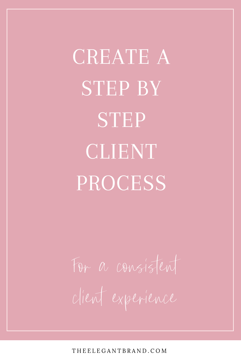 Create a step by step client process to a consistent client experience