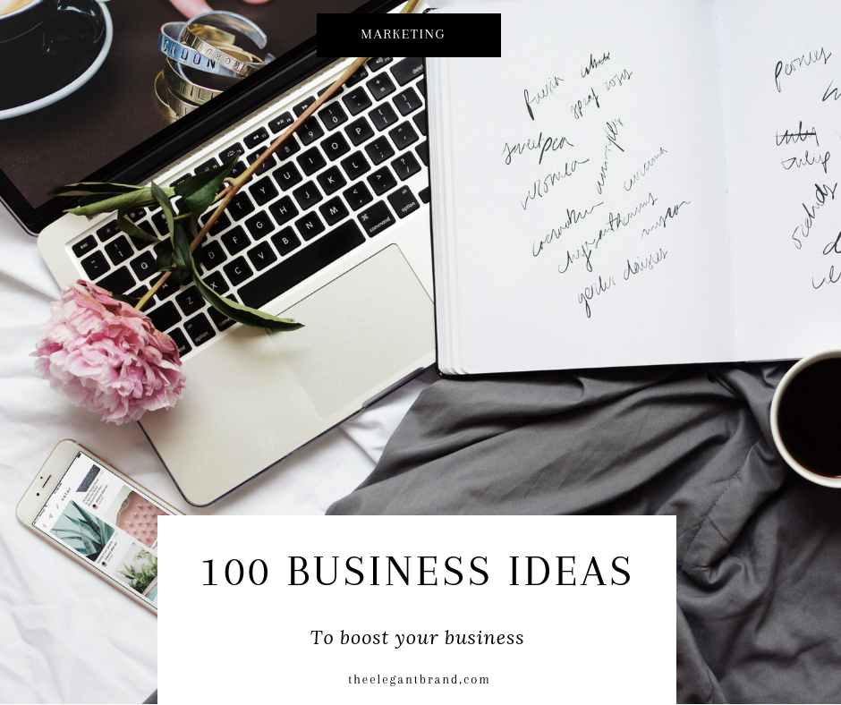 100 business ideas for your business