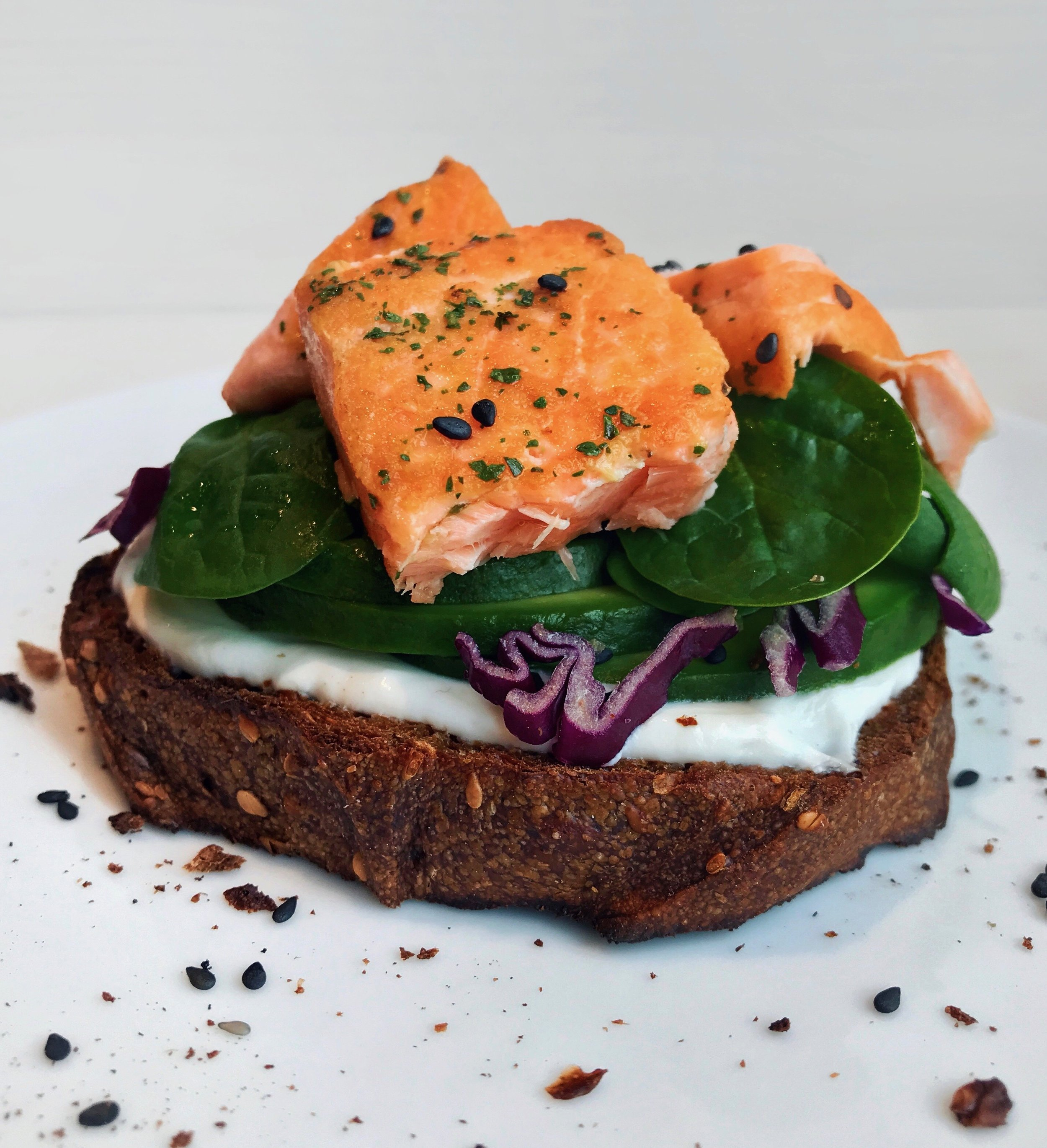 Grilled Salmon & Cream Cheese