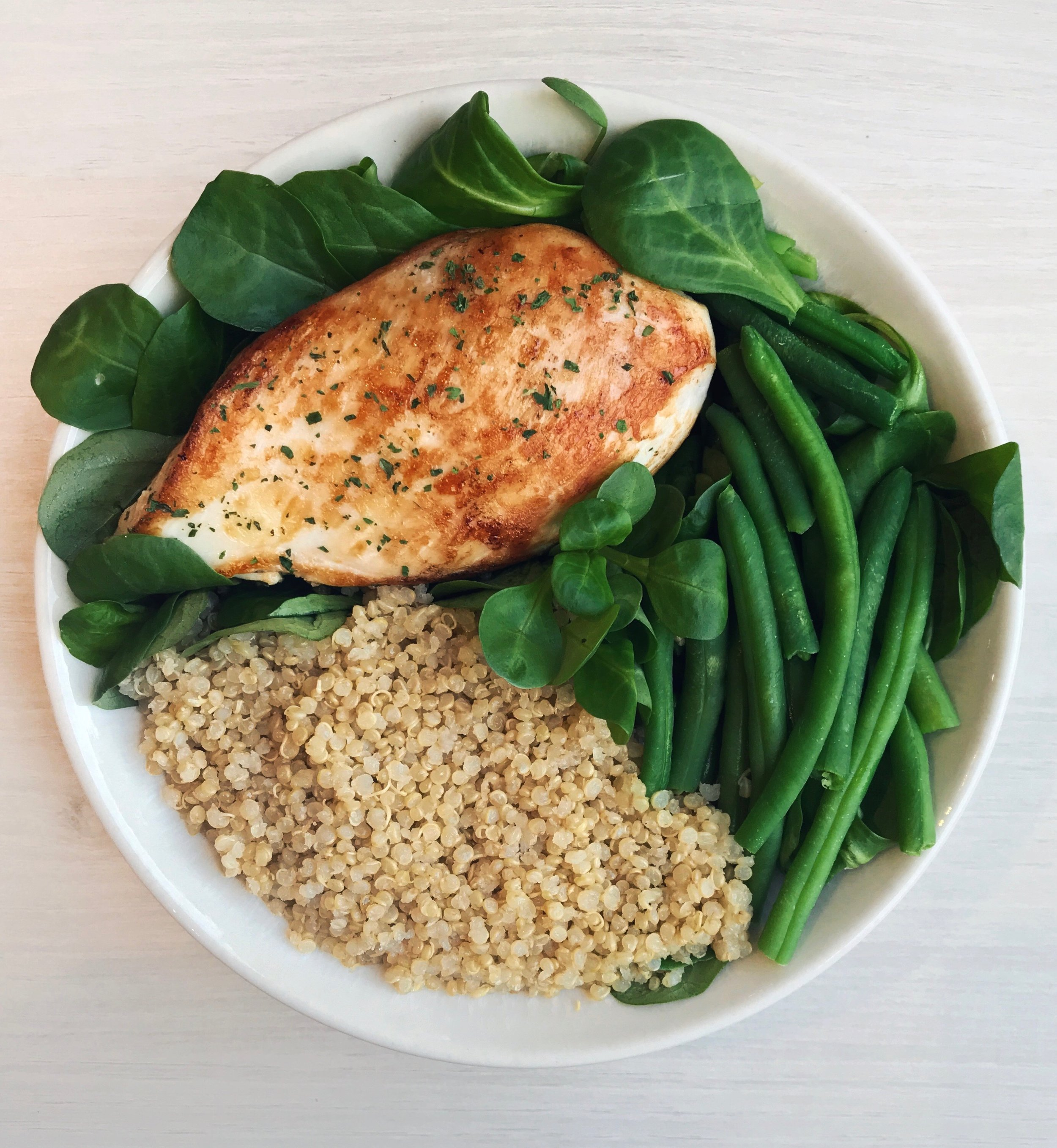 Chicken, Quinoa, Green Beans & Olive Oil