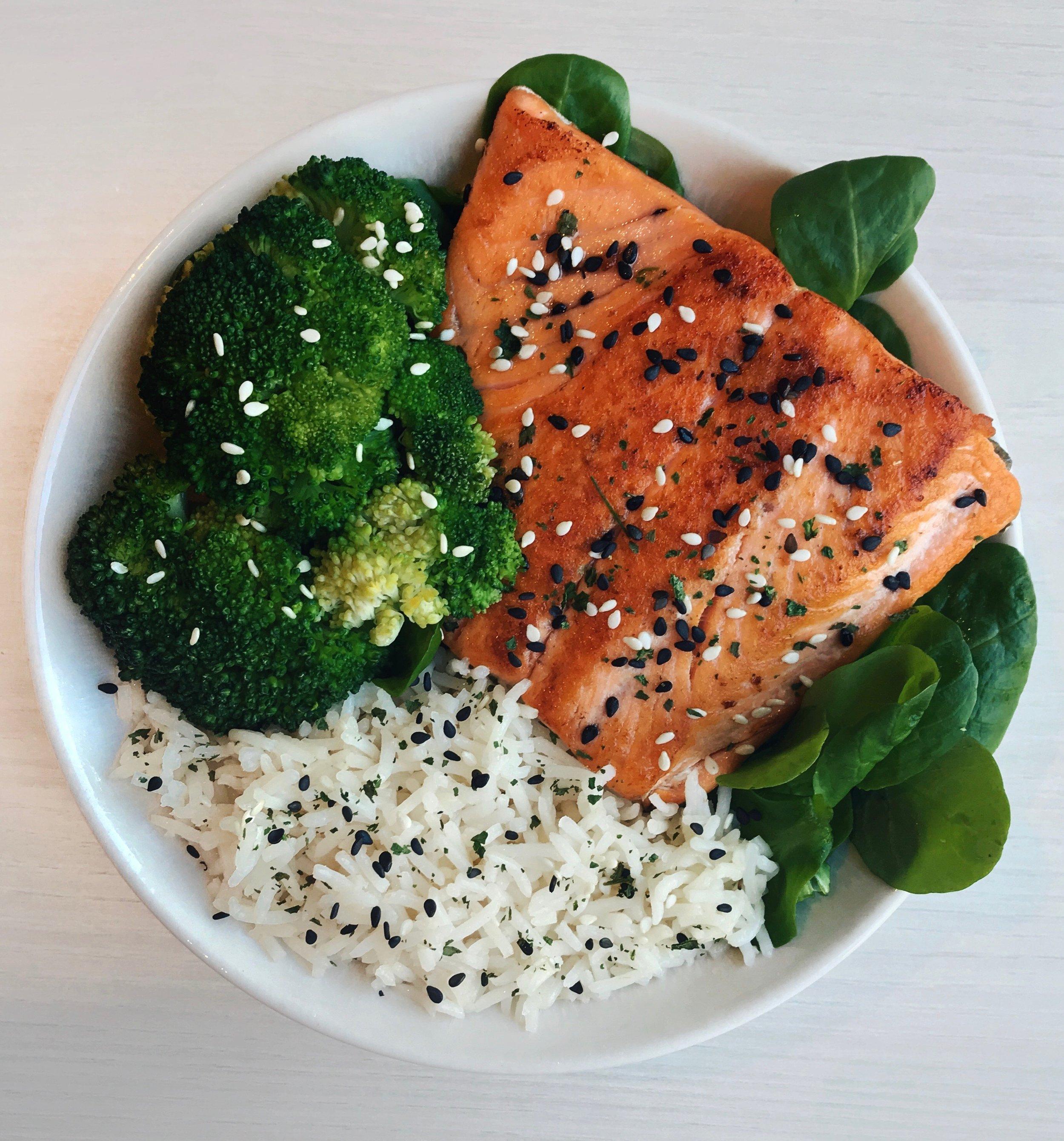 Salmon, Basmati Rice & Broccoli