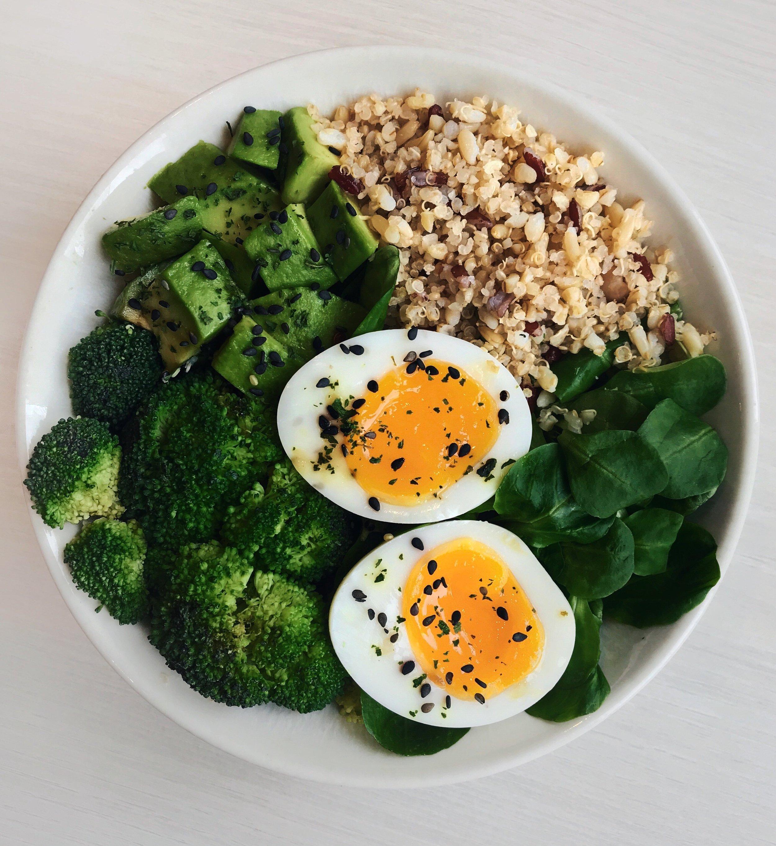 Egg, Quinoa, Avocado & Greens